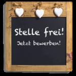 """Tafel mit Text """"Stelle frei"""""""